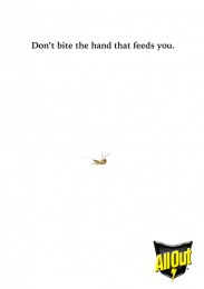 All Out: Mosquito Repellent, 4 Print Ad by Miami Ad School Mumbai