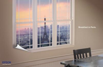 Epson Printer: Paris Print Ad by School Of Visual Arts
