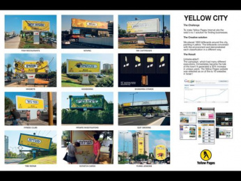 Yellow Pages/ YP: Yellow City Outdoor Advert by Y&R Tel Aviv