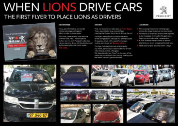 Peugeot: When Lions Drive Cars Direct marketing by Bruckner Yaar Levi Tel-Aviv