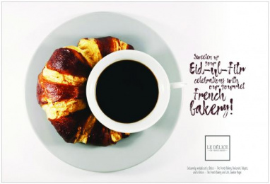 Le Delice The French Bakery: Eid-ul-Fitr Crescent Print Ad by Black Sheep