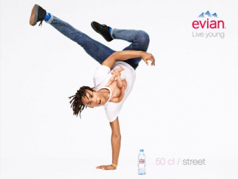 Evian Water: Live Young, 2 Print Ad by BETC Euro Rscg Paris