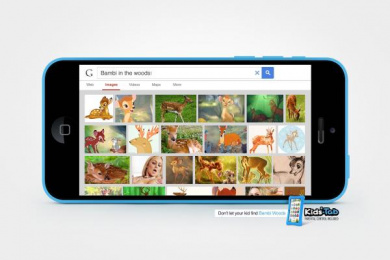 Kids-Tab: Bambi in the woods Print Ad by Maruri Grey Quito, Norlop J. Walter Thompson Ecuador