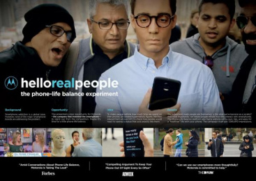 Motorola: Hello Real People [image] Case study by Ogilvy & Mather New York