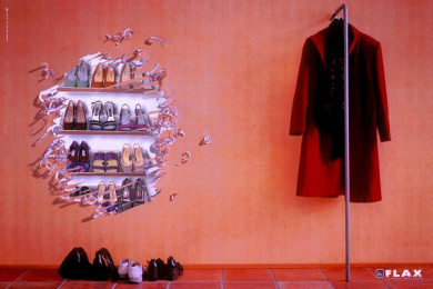 Flax Lottery: SHOES Print Ad by McCann Oslo