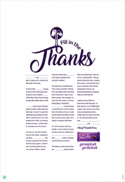 Cadbury: Fill In The Thanks, 2 Print Ad by Ogilvy South India, Wavemaker Creative