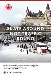 Air Canada: Skate Outdoor Advert by J. Walter Thompson London