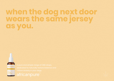 africanpure CBD: Jersey Print Ad by Canvas Cape Town