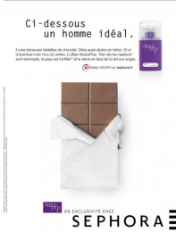 "Sephora Fragrances & Cosmetics: ""Abdos plus"" Print Ad by Quelle Belle Journee"