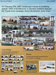 Toyota Auris: EYES ON AURIS Outdoor Advert by Zenithmedia
