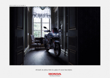 Honda: Africa Twin At Home, 3 Print Ad by DDB Paris
