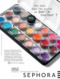 """Sephora Fragrances & Cosmetics: """"Make Up For Ever 1"""" Print Ad by Quelle Belle Journee"""
