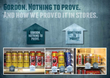 Gordon Finest Beers: In-store Wobblers Outdoor Advert by 10 Advertising, Touche, Yves Van Houdt
