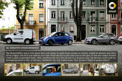 Smart Fortwo: #Smarteffect Outdoor Advert by BBDO Lisbon