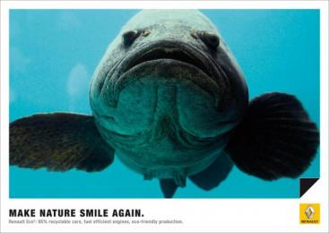 Renault Eco2: FISH Print Ad by Publicis Frankfurt