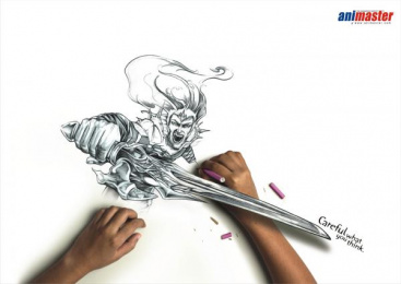Animaster Animation School: Sword Print Ad by Rediffusion Y&R