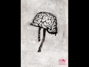 "Guerrilla Radio Station: ""The Helmet"" Print Ad by Propaganda Advertising"
