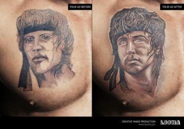 Looma: Tattoo Print Ad by Looma