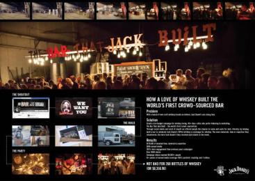 Jack Daniel's: The Bar That Jack Built [image] Case study by Arnold Furnace Sydney