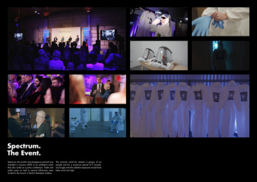 German Cancer Aid: Spectrum - The Event. Print Ad by Heimat Berlin, LIESEL Filmproduktion GmbH / Berlin