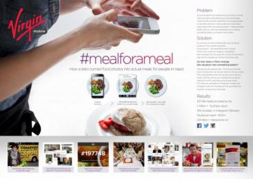 Virgin Mobile: #Mealforameal Digital Advert by Havas Worldwide Sydney, One Green Bean Sydney