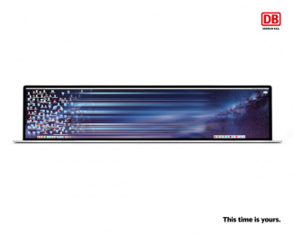 Deutsche Bahn: This time is yours, 3 Print Ad by Serviceplan, Germany