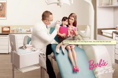 Barbie: Dentist Print Ad by Ogilvy & Mather Kuala Lumpur