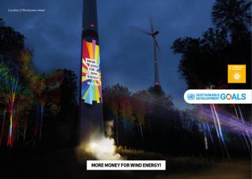 17Ziele: 17 Live Projections, 12 Print Ad by HUisHU. Digitale Kreativagentur, Hamburg & Hannover, Germany