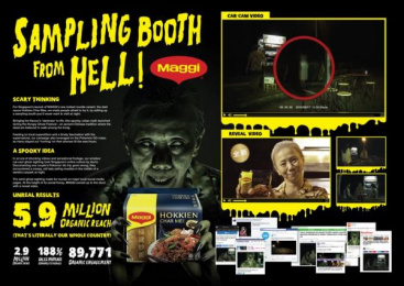 Maggi: Sampling Booth From Hell [image] Digital Advert by Content Curator, GOVT