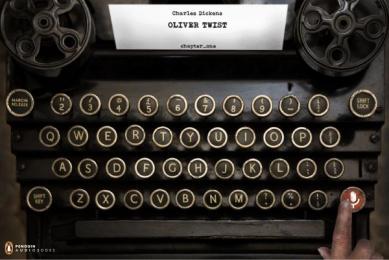 Penguin Books: Typewriter Print Ad by Animal Ad School San José