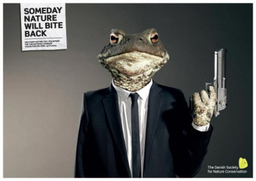 Nature Preservation Campaign: TOAD Print Ad by Grey Copenhagen