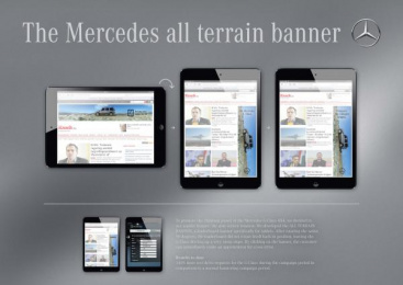 Mercedes-Benz: THE ALL TERRAIN BANNER Direct marketing by VVL BBDO Brussels