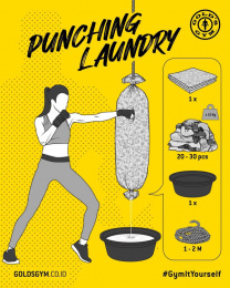 Gold's Gym: Gym It Yourself - Punching Laundry Digital Advert by LUP, Jakarta