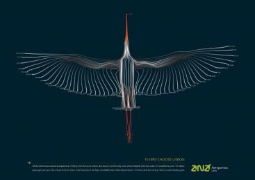 Lisbon Airport: White Storks Theme Print Ad by BBDO Lisbon