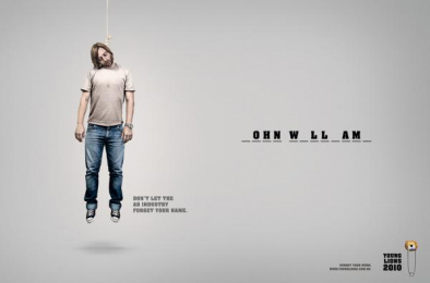 Young Lions Brazil (call For Entries): Hangman, 1 Print Ad by Artplan Sao Paulo, Mohallem Meirelles