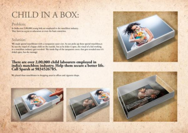 Stop Child Labour: Child in a box Direct marketing by Contract Advertising India, McCann Erickson New Delhi