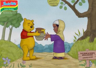 Indomie: Pooh Print Ad by Noah's Ark Lagos