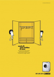 Zanussi Electrolux: WARDROBE Print Ad by BBH London