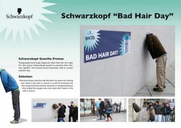 Hair Way: BAD HAIR DAY Print Ad by DDB Berlin