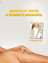 Penthouse Magazine: Women's Magazine Print Ad by Red Cell
