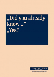 Financial Times Newspaper: YES Print Ad by KNSK