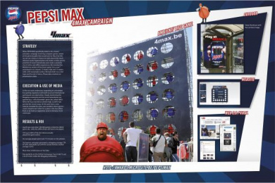 Pepsi Max: 4MAX Outdoor Advert by Proximity BBDO Brussels