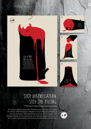 Malaysian Nature Society: Cut a Tree. Kill a Life [english] Print Ad by Y&R Kuala Lumpur