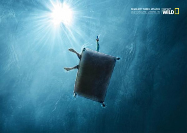 National Geographic Tv Channel: Deadliest shark attacks, 2 Print Ad by Ireland/Davenport