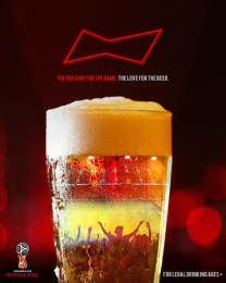 Budweiser: The Passion For The Game, The Love For The Beer, 1 Print Ad by Team collaboration