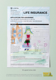 Toy Kingdom: Life Insurance Form Print Ad by Canvas Cape Town