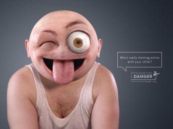Internet safety for children: Emoticon- WINK Print Ad by Rosapark Paris