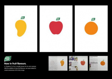Tic-tac: Now in Fruit Flavours Print Ad by GREYnJ United Thailand