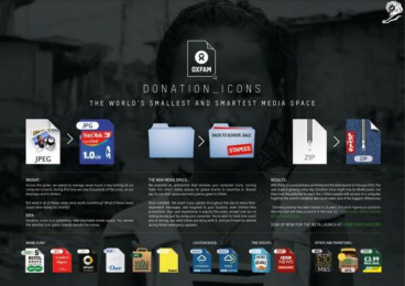 Oxfam: Donation Icons Case study by Stink, Y&R London