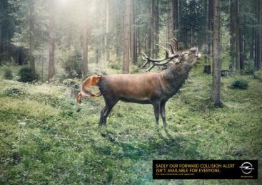 Opel: Deer and fox Print Ad by Scholz & Friends Hamburg